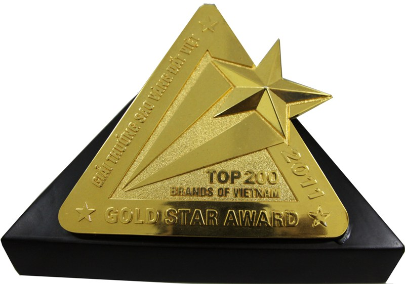 Gold Star Award Top 200 brands of VietNam